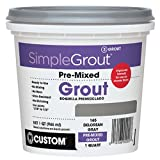 Custom PMG165QT 1-Quart Simple Premium Grout, Delorean Gray