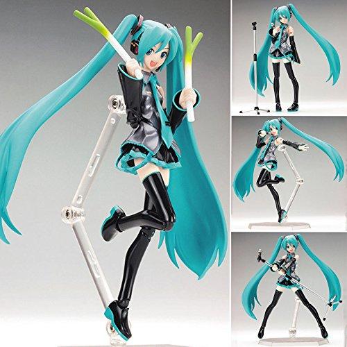 "SHALLEEN Anime VOCALOID Hatsune Miku Action Figma Manga Figure Toys H:15cm/6"" In box"