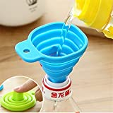 Little Story  Telescopic Funnel Clearance , Kitchen Home Mini Food Grade Silicone Folding Telescopic Funnel