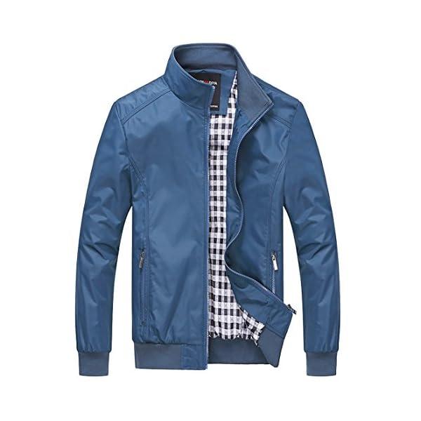 c0ba6cdaa Nantersan Mens Casual Jacket Outdoor Sportswear Windbreaker Lightweight  Bomber Jackets and Coats