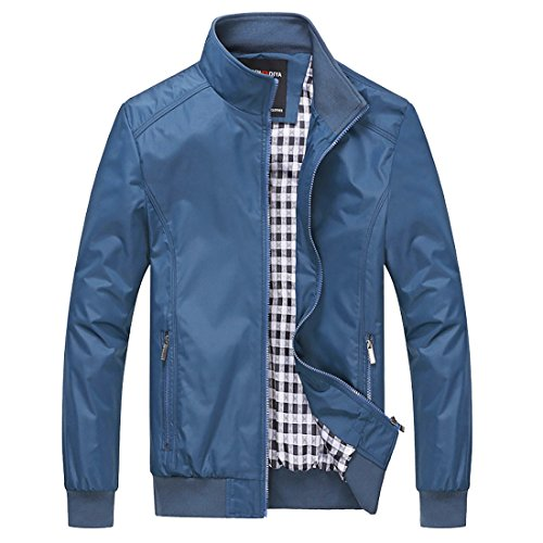 BINGKA Mens Casual Outdoor Sportswear Lightweight Bomber Jackets and Coats Plus Size