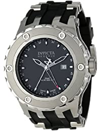 Invicta Mens Reserve Specialty Subaqua Swiss Made GMT Black Polyurethane Strap Watch 1396