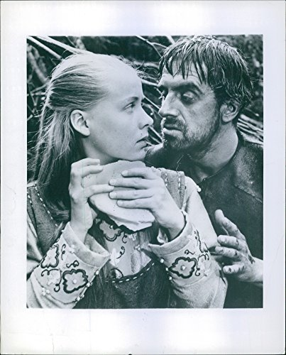 Vintage photo of Birgitta Pettersson and Tor Isedal in the film The Virgin Spring, 1960.