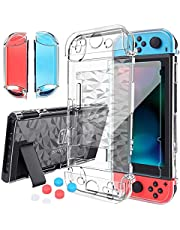 HEYSTOP Nintendo Switch Case Dockable, Clear Protective Case Cover