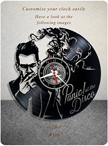 Panic at the Disco vinyl clock, vinyl wall clock, vinyl record clock pop rock punk brendon urie wall art home decor kids gift 188 – c2