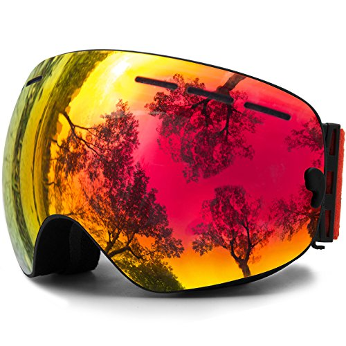 JULI OTG Ski Goggles,Frameless Over Glasses Skiing - Youth Prescription Glasses