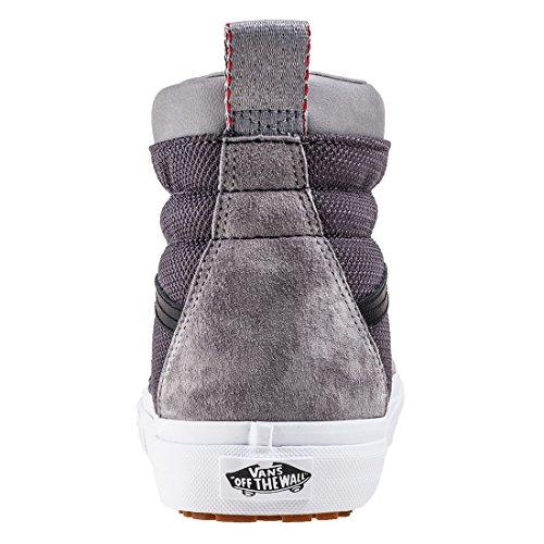 Varevogne Sk8-hi Unisex Afslappet High-top Skate Sko, Komfortable Og Holdbare I Signatur Vaffel Gummisål Frost Grå / Ballistisk