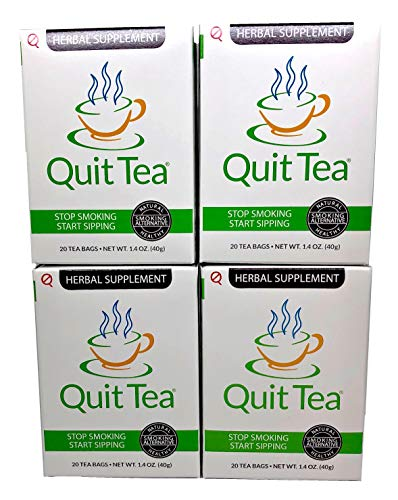 Quit Tea Pack: 4 Boxes Of Quit Tea Herbal Stop Smoking Tea (1 Month Supply)