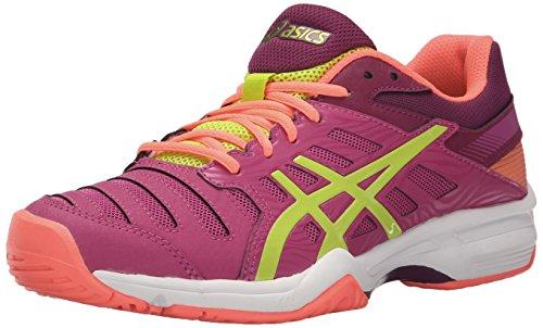 ASICS Womens Gel-Solution Slam 3 Tennis Shoe Berry/Lime/Plum