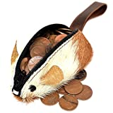 Rustic Leather Mouse Coin Purse Change Pouch Handmade by Hide & Drink :: Furry
