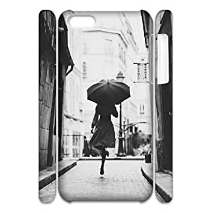 3D IPhone 5C Case Woman with Umbrella. Old Photo, Old Photo Kweet, {White}