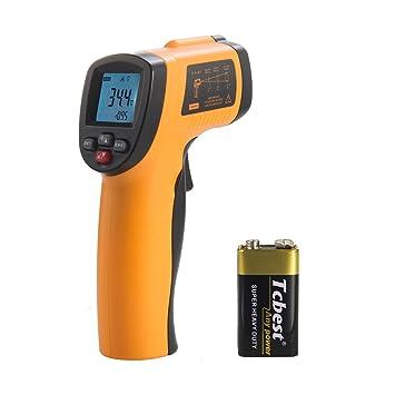 Termómetro Digital de Cocina TaoTronics -50℃-420℃ (Termómetro Láser para Parrilla, Barbacoa, Leche, Caramelo) Función de Memoria, Apagado Automático, ...