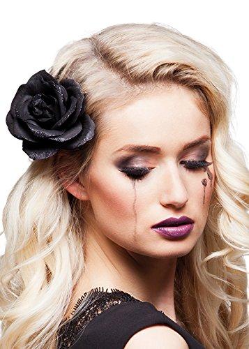 Halloween Gothic Black Rose Hair Clip