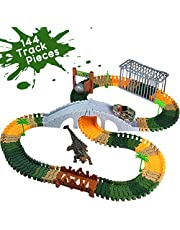 Take Apart Toy Racing Car Build Your Own Race Track Dinosaur Toys Construction Engine Toy Vehicles Play Set with 144 Building Blocks 4x4 Jeep Model Car Run for Kids Boys Girls over 3 Years Old
