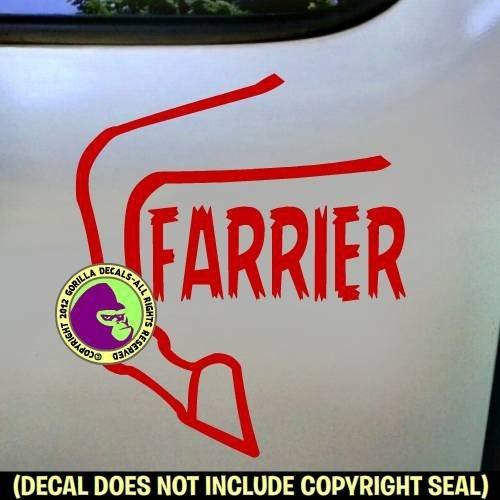 FARRIER Horse Hoof Vinyl Decal Sticker A