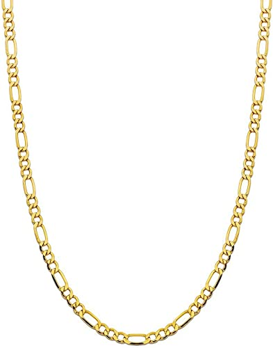 14K Yellow Gold 2.5mm Figaro 3+1 Link Chain Necklace Multiple lengths available-22