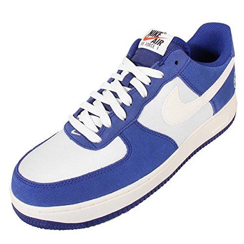Nike Air Force 1, Zapatillas de Baloncesto para Hombre Azul / Blanco (Deep Royal Blue / Sail-Phantom)