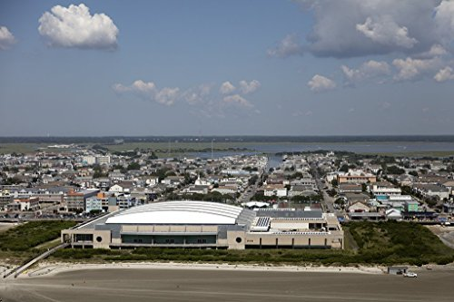 historic pictoric Photograph | Beaches, Boardwalk and Convention Center on The New Jersey Shore in Wildwood, New Jersey| Fine Art Photo Reporduction 36in x 24in -