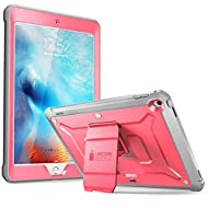 New iPad 9.7 2017 case, SUPCASE [Heavy Duty] [Unicorn Beetle PRO Series] Full-body Rugged Protective Case with Built-in Screen Protector & Dual Layer Design for Apple iPad 9.7 inch 2017 (Pink/Gray)