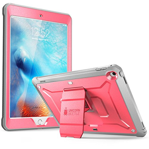 SUPCASE [Unicorn Beetle Pro Series] Case Designed for iPad 9.7 2018 / 2017, with Built-In Screen Protector & Dual Layer Full Body Rugged Protective Case for iPad 9.7 5th / 6th Generation (Pink) (Best Ipad Case For Drop Protection)