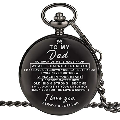 Personalized Engraved Pocket Watch Vintage Charm Custom Quartz Pocket Watch Man Necklace Pendant with Chain Gifts for Groomsmen