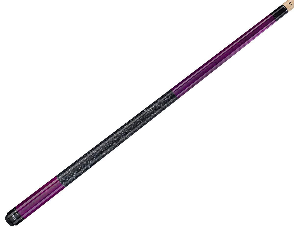Valhalla by Viking 2ピース プールキュースティック VA117 パープルステイン アイリッシュリネン ラップ 16-21オンス プラスブルーマスターチョーク。 B07J22RM58 Purple VA117 18.5