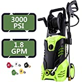 ncient 3000 PSI Electric High Pressure Washer Electric Power Washer 1.8 GPM 1800W Sprayer Professional Washer Cleaner Machine 5 Quick-Connect Spray Nozzles [US Stock] (3000PSI-Type3) Review