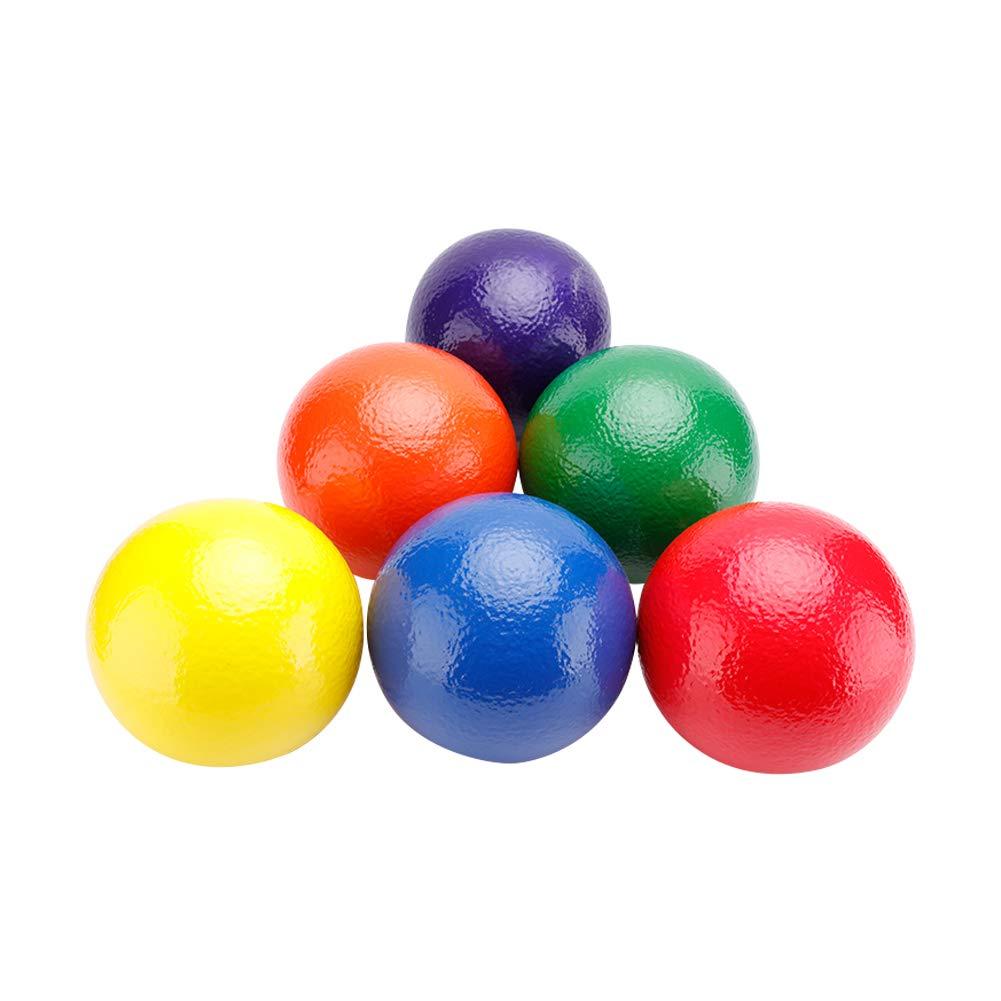Sports Basic Dodgeball Set-6pcs-No Sting Balls -with Mesh Storage Bag with Mesh Storage Bag