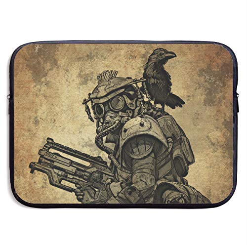 Classic Black Water Repellent Neoprene Laptop Sleeve Bag Cover Case Compatible 13 15 Inch, Computer Netbook Notebook Skin - Apex Legends Bloodhound Metal Posters