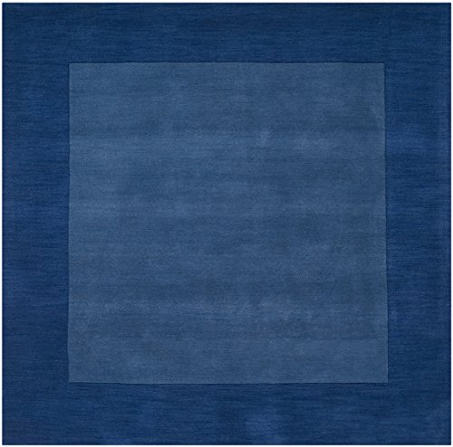 Surya Mystique M-308 Transitional Hand Loomed 100% Wool Sapphire Blue 8' Square Area Rug ()