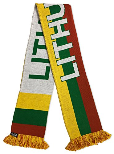 RUFFNECK National Soccer Team Lithuania International Soccer Team Scarves, One Size, Yellow