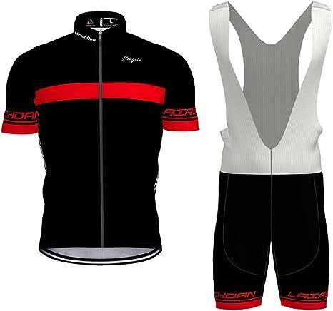 Hengxin Maillot Ciclismo Corto De Verano para Hombre, Ropa Culote Conjunto Traje Culotte Deportivo con 9D Almohadilla De Gel para Bicicleta MTB Ciclista Bici: Amazon.es: Deportes y aire libre