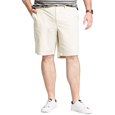 """Goodfellow & Co Men's Big & Tall 10.5"""" Linden Flat Front Chino Shorts (Light Cream, 50): Clothing"""