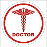 clickforsign Doctor Reflective Sign Hood, Bumper, Sides, Windows Car Self Adh...