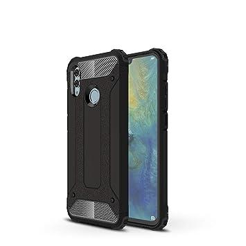 LAGUI Funda Huawei P Smart 2019, Robusto Carcasa TPU/PC de Doble Capa al Aire Libre, Negro