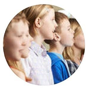 alfombrilla de ratón Grupo de escolares que cantan en coro de escuela - ronda - 20cm
