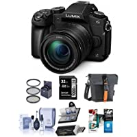 Panasonic Lumix DMC-G85 Mirrorless Camera with 12-60mm F/3.5-5.6 Lumix G Vario Power OIS Lens, Black - Bundle with Bag