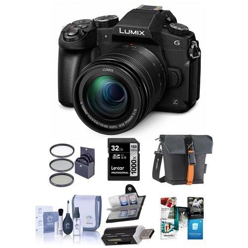 Panasonic Lumix DMC-G85 Mirrorless Camera with 12-60mm F/3.5-5.6 Lumix G Vario Power OIS Lens, Black - Bundle with Bag by Panasonic