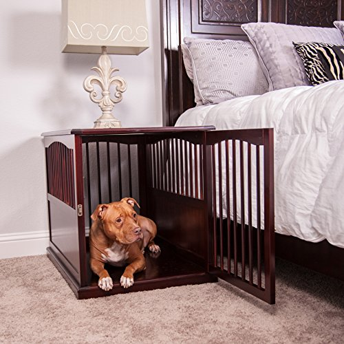 Primetime Petz End Table Kennel, Large, Walnut