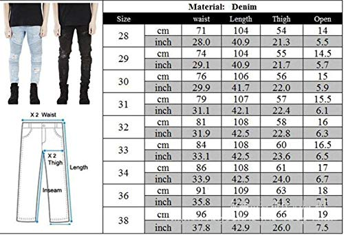 Dritti Stretch Slim Pants Distrutti Lunghi Mens Fit Strappati Nero Matita Fashion Casual Jeans Denim Giovane vBqxU8I