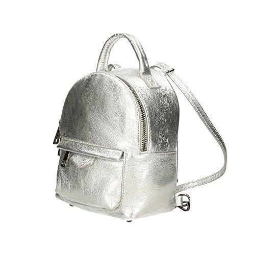 Italy Aren femme petit sac en véritable Cm Argent Sac 17x20x11 dos à cuir Made in PaqwtRPrx