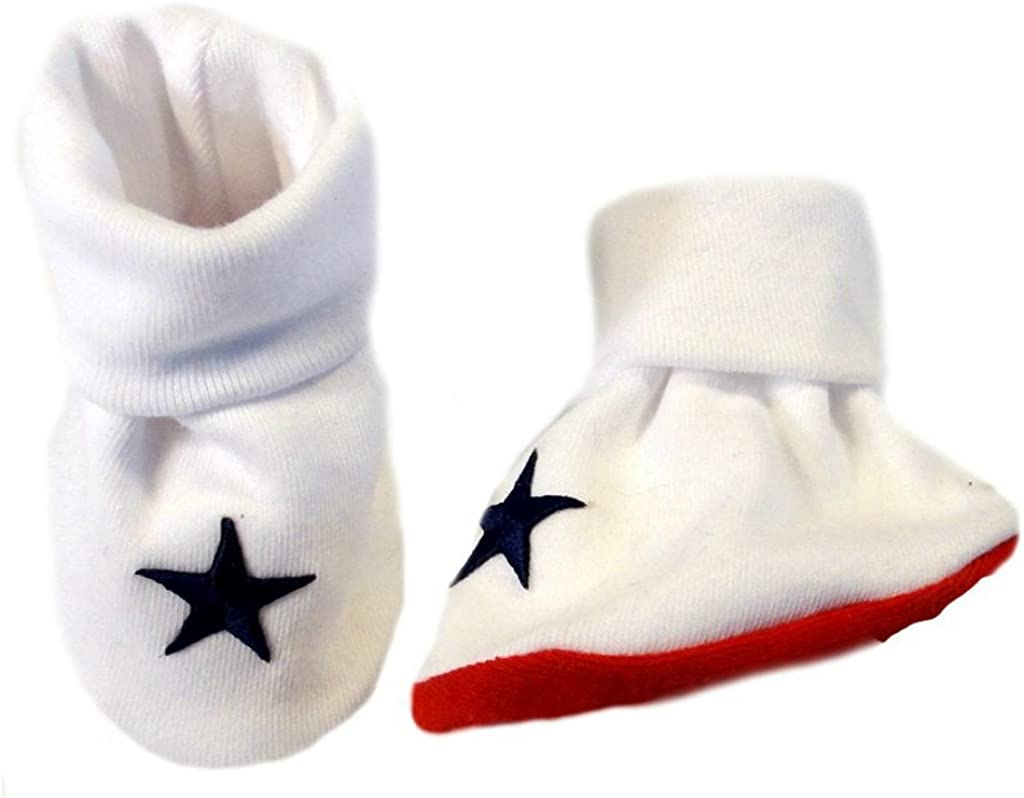 White and Blue USA Booties Micro Preemie Jacquis Unisex Baby Red