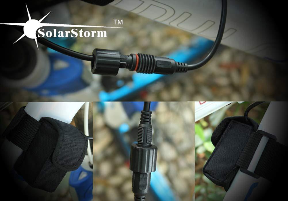 MLSice Solarstorm X2 2X XML T2 LED Lumi/ère de V/élo de Nuit Lumens Puissante Etanche VTT Phare Avant avec Batterie 18650 Bandeau Chargeur Anneaux en Caoutchouc