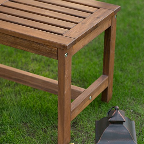 Coral Coast 3 Ft Outdoor Wood Backless Bench Durable