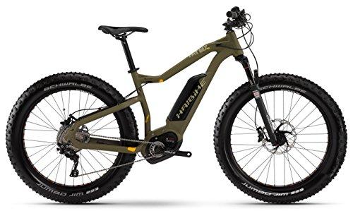 Haibike XDURO FatSix RX 26R Fatbike Mountain eBike 2016 (Olive/Grün, 45)