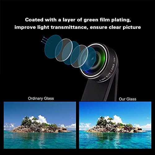 11 in 1 Cell Phone Camera Lens Kit Wide Angle Lens & Macro Lens+Fisheye Lens+Telephoto Lens+CPL/Flow/Radial/Star/Soft Filter+Kaleidoscope Lens Compatible for iPhone Samsung Sony and Most of Smartphone 51rrjDipIkL