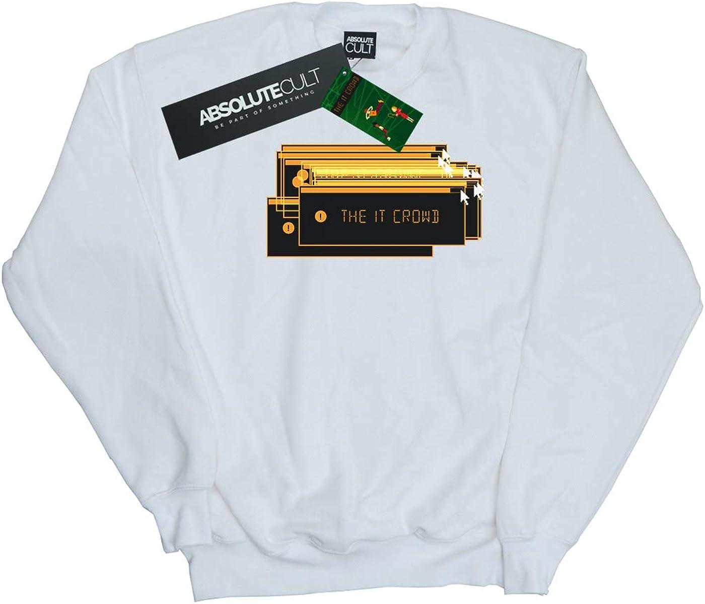 Absolute Cult The IT Crowd Girls Error Screens Sweatshirt