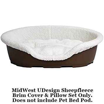 Midwest Quiet Time U Design Sheepfleece Pod Cover And Pet Bed Pillow, 23