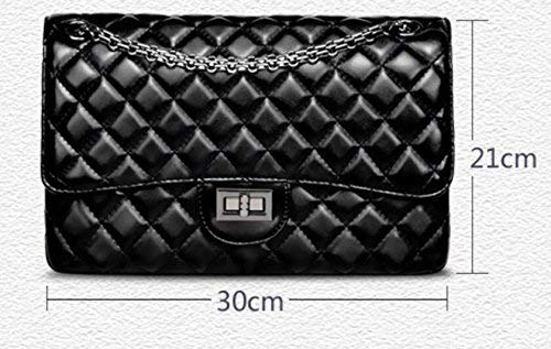 Cadena grain Shoulder Cross color Tamaño Bolsa Rhombic Diagonal Fashion Bag Eeayyygch Pu De qxZZpS