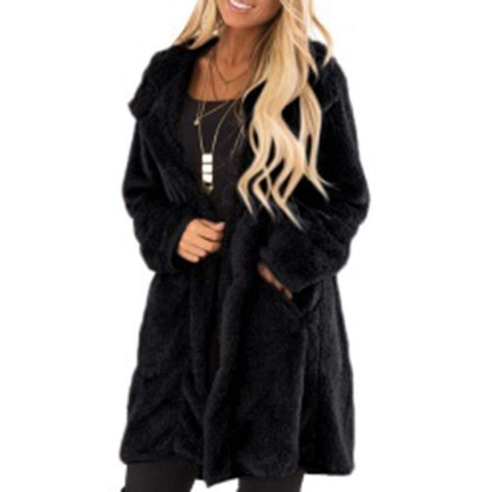 Amazon.com: Excellent Value Besde Womens Autumn and Winter Fashion Faux Fur Winter Warm Plush Jacket Coat Flannel Long Coat: Sports & Outdoors
